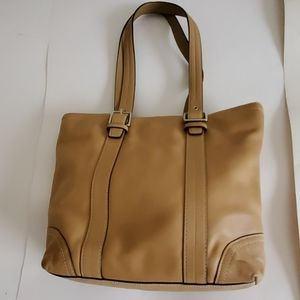 COACH tan Hampton tote Bag